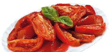 "STARTERS AND SIDE DISHES - ""Spicchi di sole"" sliced semidried tomatoes (COD. 01017)"