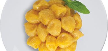 "STARTERS AND SIDE DISHES - ""GOLDEN BABY"" yellow peeled semidried tomatoes (COD. 01007)"