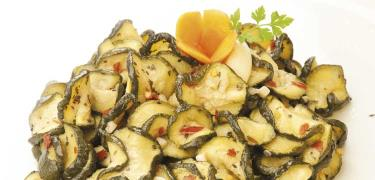 STARTERS AND SIDE DISHES - SEMIDRY COURGETTES in slices (COD. 01220)