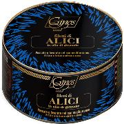 FISH - SICILIAN ANCHOVY FILLETS in sunflower oil (COD. 05020)