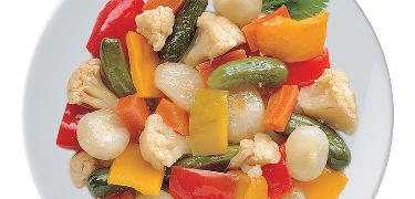 STARTERS AND SIDE DISHES - Sweet and sour vegetable mix (COD. 01216)